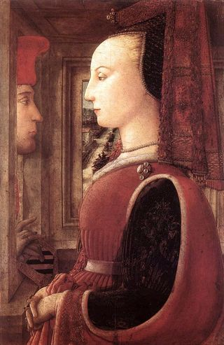 Lippi, Portrait Of A Man And Woman At A Casement